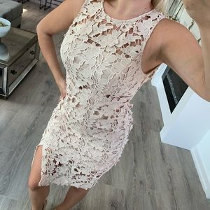 Gorgeous Lace Nude Crochet Dress Size Small